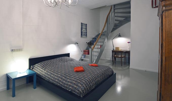 Schlafzimmer Doppelbett Ferienwohnung Ravensburg